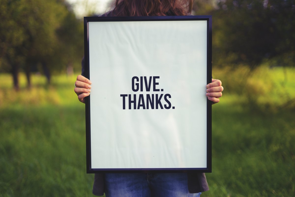 Thankfulness In the Hills andValleys